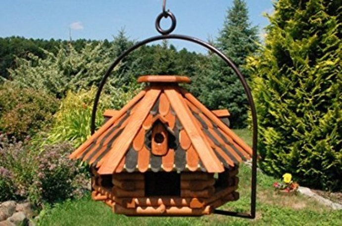 details zum artikel vogelh user zum aufh ngen grosses vogelhaus aus holz culare. Black Bedroom Furniture Sets. Home Design Ideas